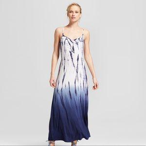 Xhiliration Tie dye maxi dress